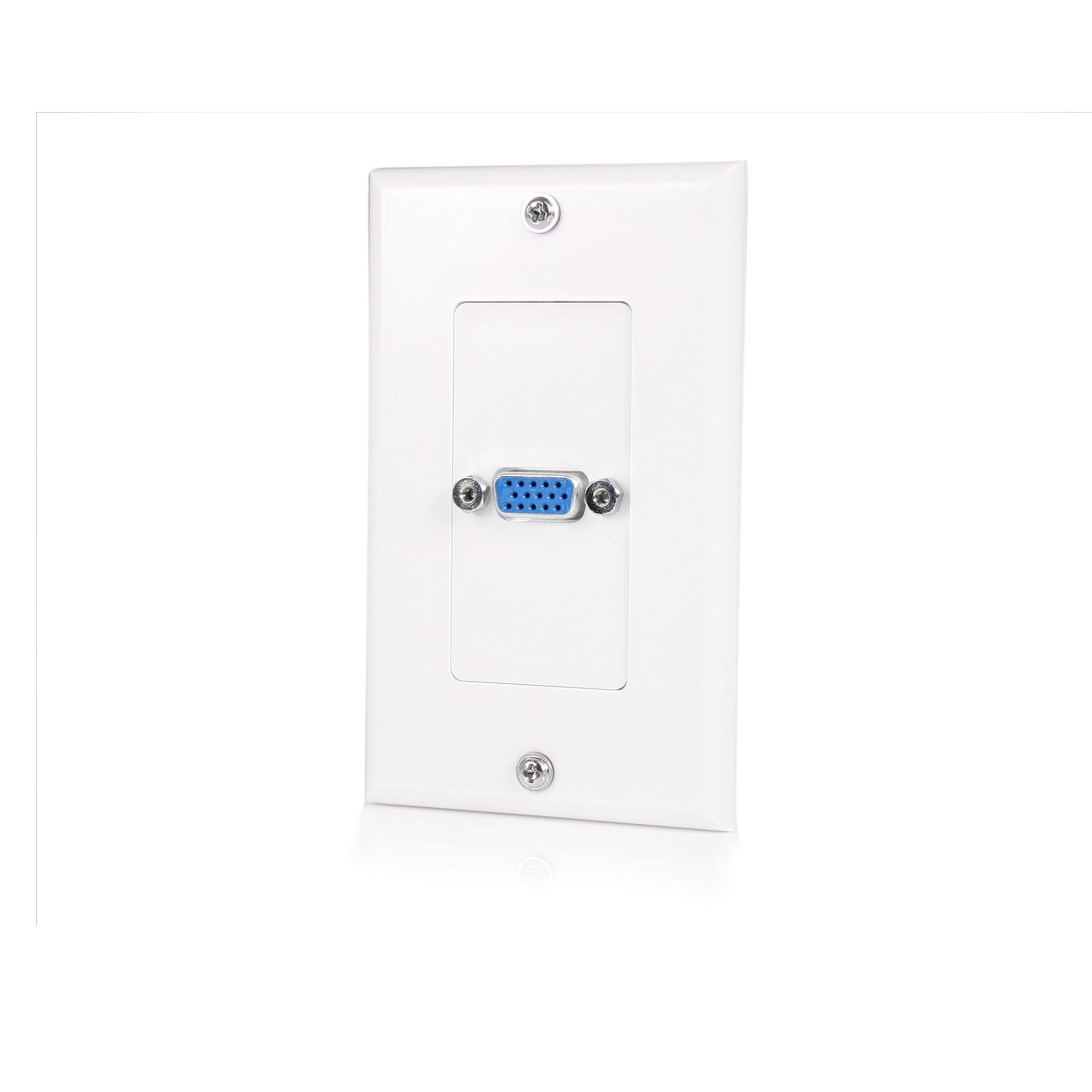 Amazon Com Startech Com Vgaplate Single Outlet 15 Pin