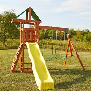 scrambler wooden swing set