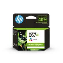 Cartucho de Tinta HP 667xl Colorido Original 3YM79AL