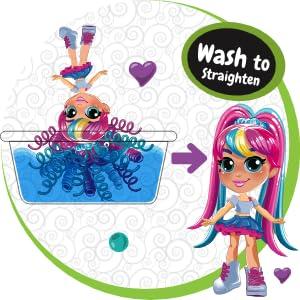 wash to straighten