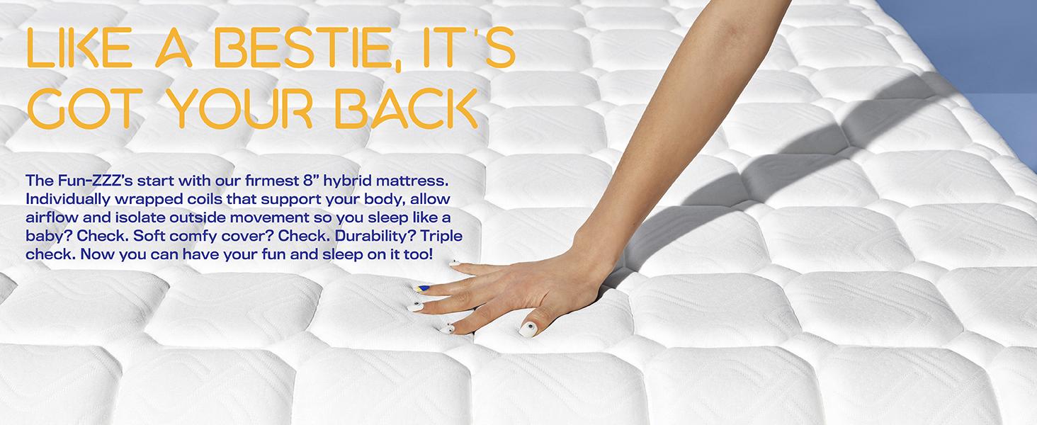 simmons foam mattress in a box