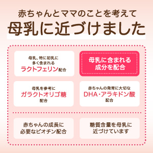 母乳成分 ラクトフェリン DHA 母乳