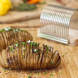 potato slicing