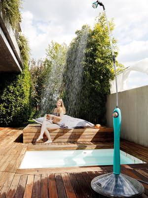 GF Garden Sunny Style Solar, jardín, Ducha para Exterior, Camping, Vacaciones, Azul: Amazon.es: Jardín