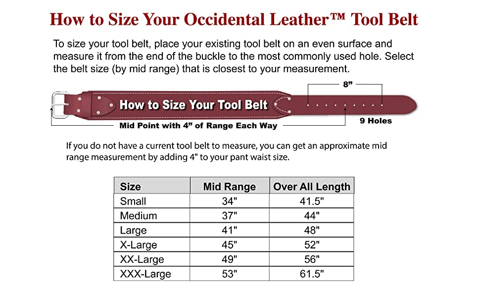 How to size your tool belt