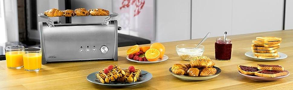 Cecotec Tostadora Acero Steel&Toast 1L. 6 Niveles de Potencia ...