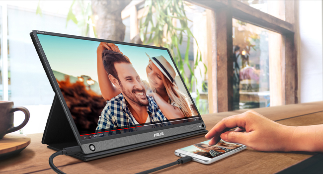 "Asus Zenscreen Go MB16AHP 15.6"" Full HD Portable Monitor IPS Non-Glare Built-in Battery and Speaker"
