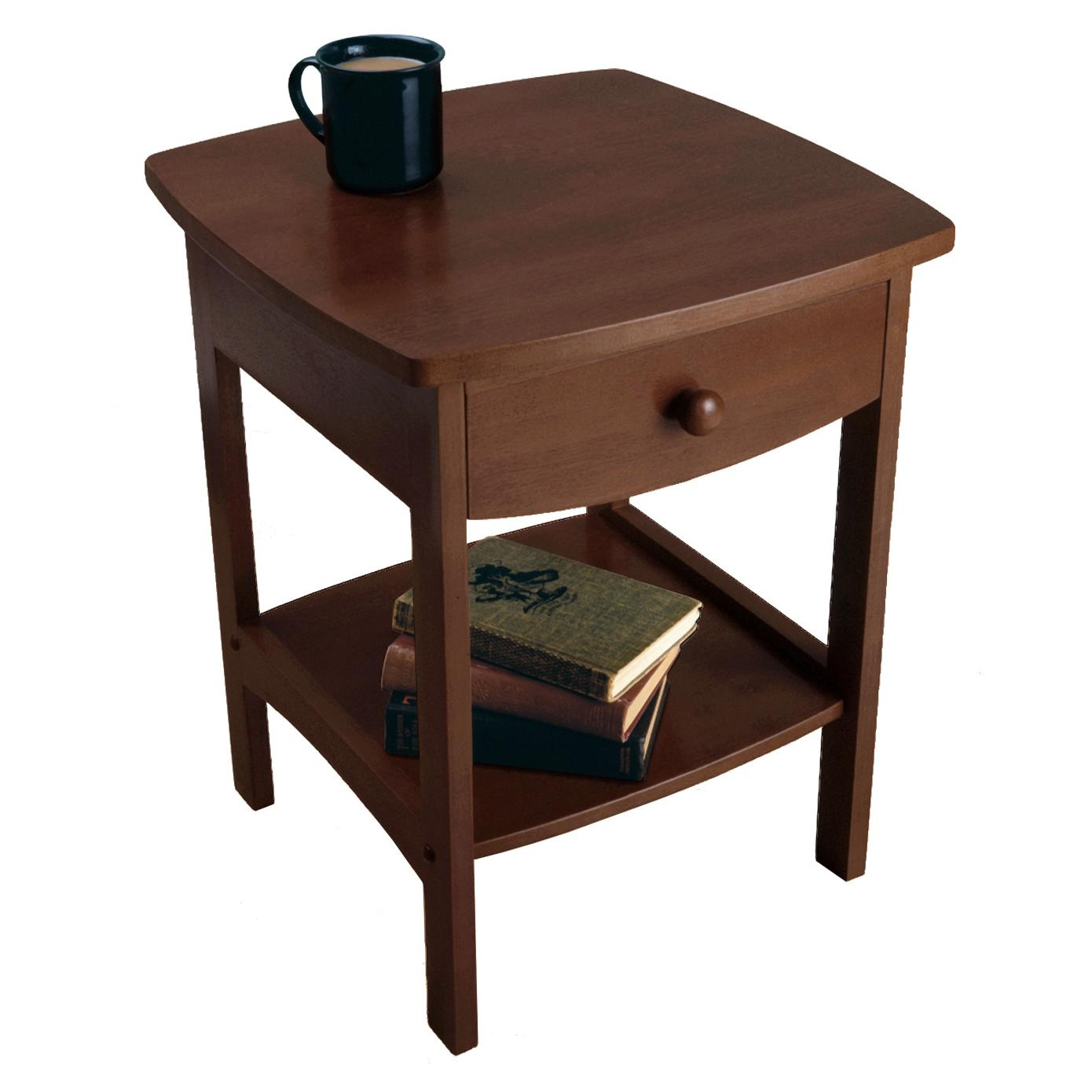 amazon com winsome wood accent table walnut kitchen u0026 dining