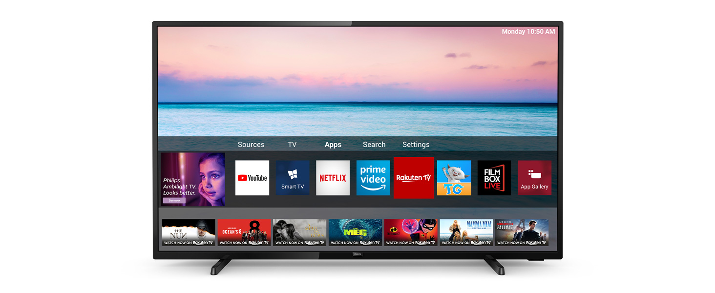 Philips 43PUS6504/12 TV 43 inch LED Smart TV (4K UHD, HDR 10+, Dolby  Vision, Dolby Atmos, Smart TV) black