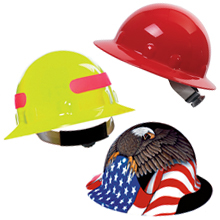 Hi-Viz hard hat, yellow hard hat, orange hard hat, bright hard hat