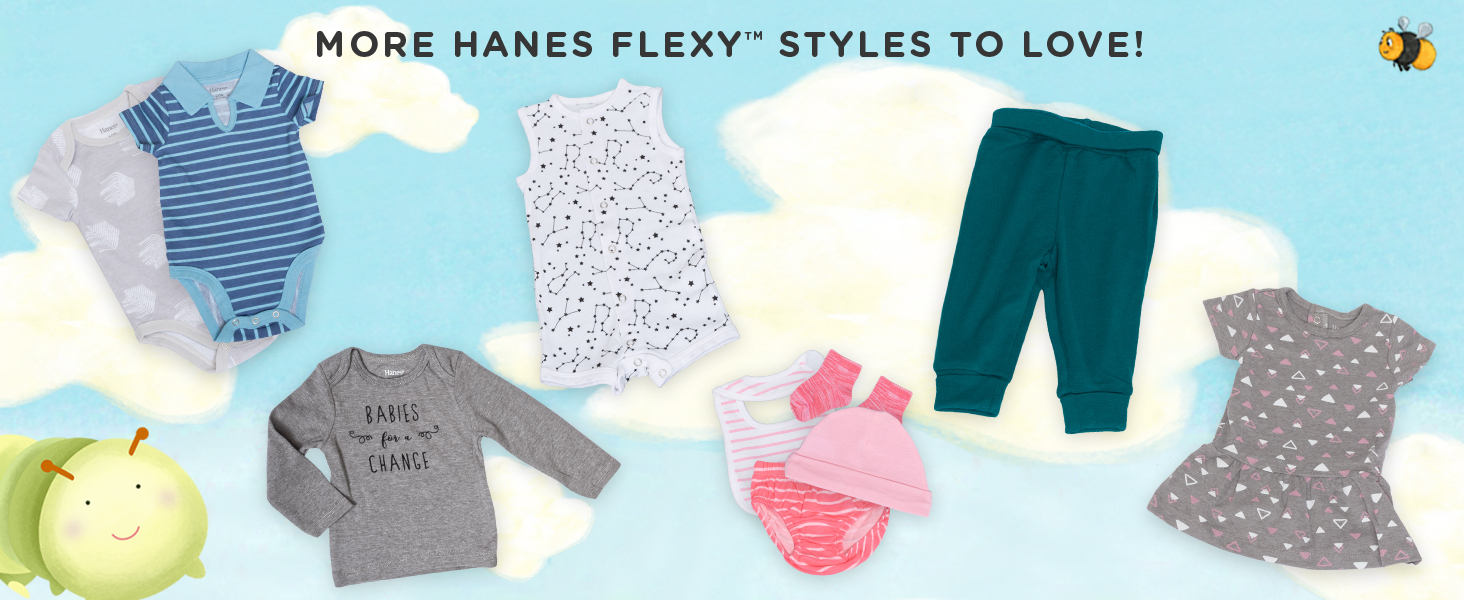 hanes baby; baby playsuits; baby bodysuit; unisex baby clothes; baby clothes