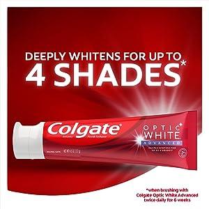 Optic white advance toothpaste