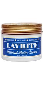 Natural Matte Cream Salon Care Hair Messy Classic Layrite Barbershop Cool Salon Looks Style Gloss