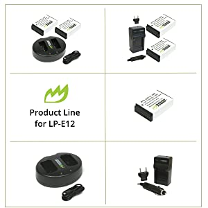 Wasabi Power Product Line for Canon LP-E12