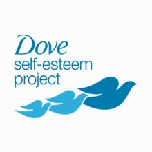 The Dove Self-Esteem Project Icon, 3 blue birds