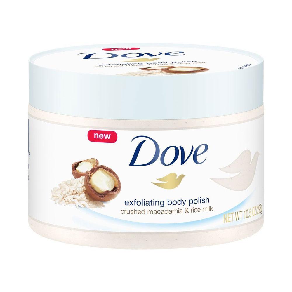 Macadamia Rice Milk Exfoliating Body Scrub By Dove