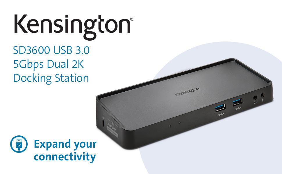 Kensington SD3600 5Gbps USB 3.0 Dual 2K Docking Station