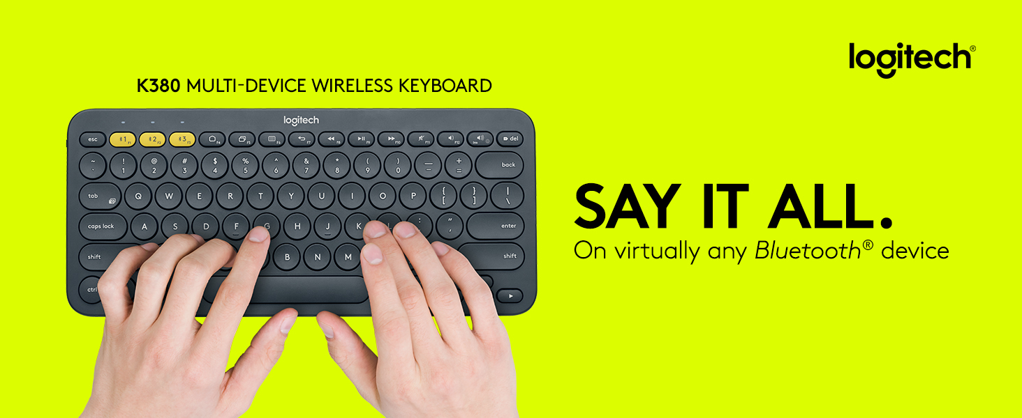 Logitech K380 Multi-Device Bluetooth Keyboard – Windows, Mac, Chrome OS,  Android, iPad, iPhone, Apple TV Compatible – with FLOW Cross-Computer  Control