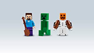 Steve, Creeper, and Snow Golem