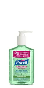 aloe, soothing gel, clean hands, kill germs, table top, work sanitizer, home sanitizer