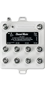 Channel Master, Distribution, Amplifier, Preamplifier, TV Antenna, Drop Amp, Signal Booster, 8 Port