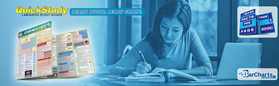 Quick Study QuickStudy Chemistry Laminated Study Guide BarCharts Publishing Chemistry Academic Guide