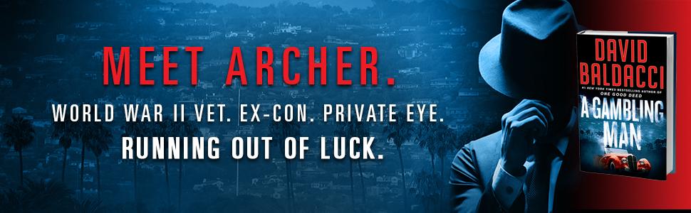 gambling man, archer, david baldacci, mystery thriller, great summer read