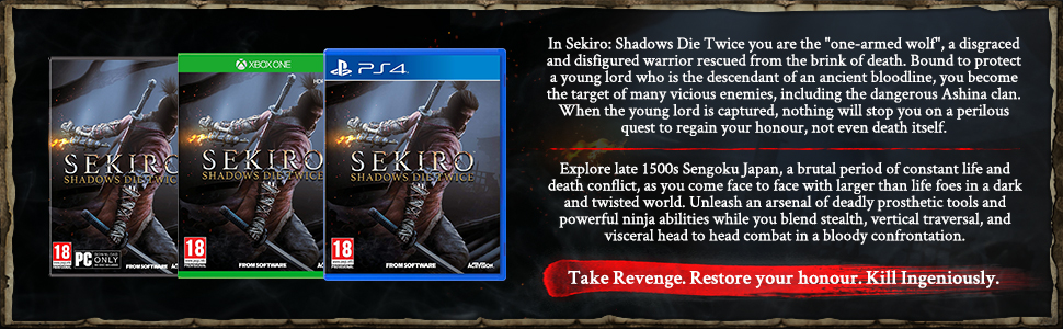 Strict Sekiro Shadows Die Twice Steelbook game Not Included Original Game Cases & Boxes