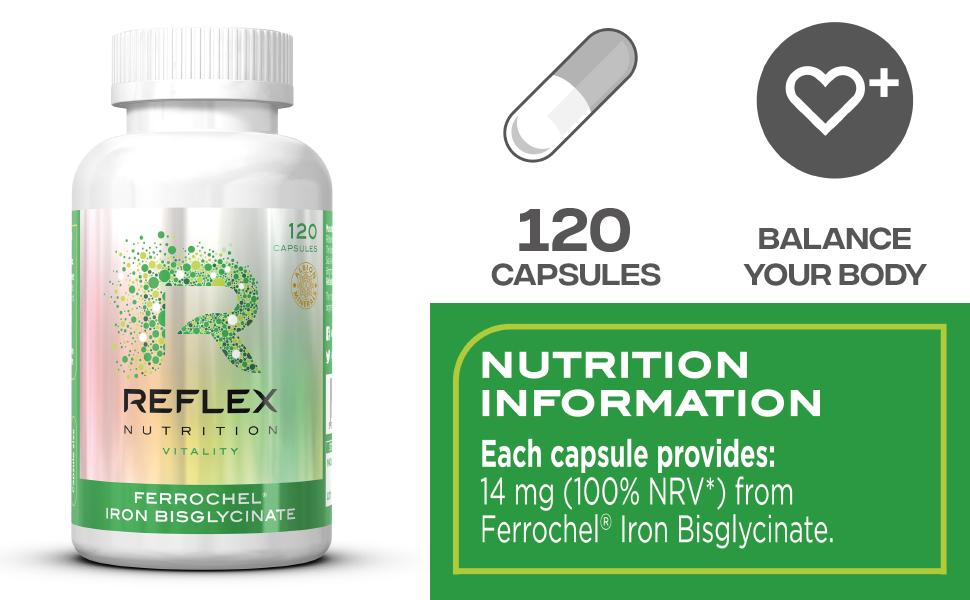 Reflex Nutrition Albion Ferrochel (120) 120 Unidades 60 g ...