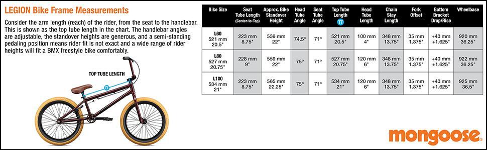 Mongoose, Legion L60, Legion L80, Legion L100, Freestyle Bike, BMX Bike, Sturdy, Durable, Rotor