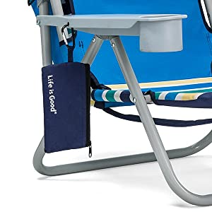 Life is Good Beach Chair - Accessory Pouch