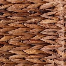 Dark Brown Bone Shape Hyacinth Basket for Pets from Bone Dry