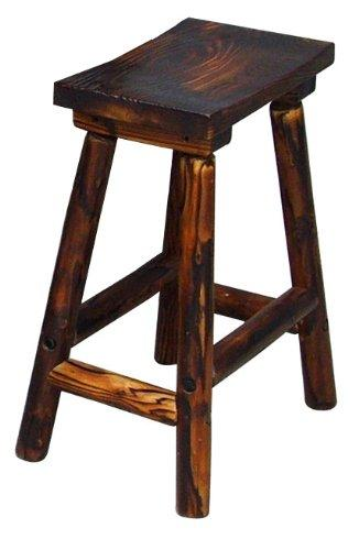 Leigh Country saddle stool char-log seating bar stool  sc 1 st  Amazon.com & Amazon.com : Char Log Saddle Stool 28-Inch : Yard Signs : Garden ... islam-shia.org