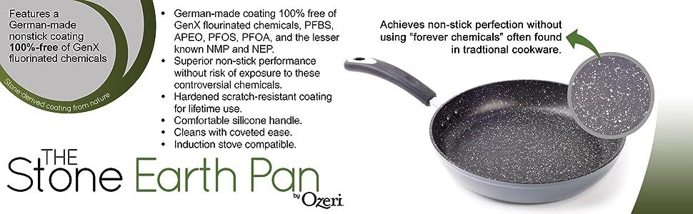 induction pan, nonstick pan, omelette pan, pfoa free pan, professional pan, ptfe free pan