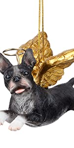 Design Toscano Honor the Pooch: Boston Terrier Holiday Dog Angel Ornament