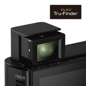 Picture of the Tru-finder on the DSCHX90V camera