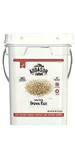 Augason Farms Emergency Survival Bulk Food Brown Rice