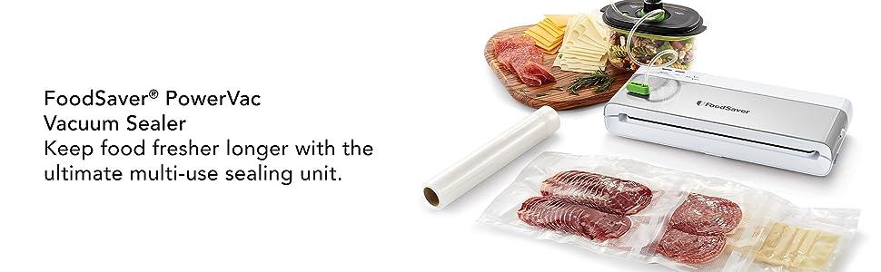 FoodSaver PowerVac Vacuum Sealer with bags and food