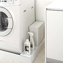 【山崎実業】 洗濯機防水パン上ラック タワー ホワイト 4966