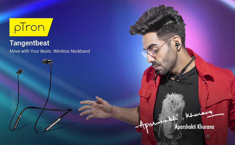 pTron tangentbeat wireless earphones