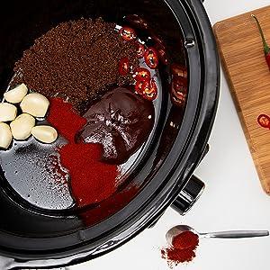 Tristar VS-3915 – Olla de cocción lenta, recipiente cerámico de 3,5 litros, función para mantener el calor