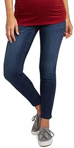 Maternity Secret Fit Belly Stretch Ankle Jeans Denim