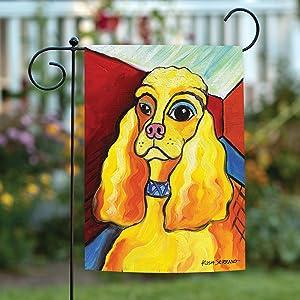 Amazon Com Toland Home Garden Pawcasso Cocker Spaniel 12 5 X 18 Inch Decorative Puppy Dog Portrait Garden Flag Outdoor Decorative Flags Garden Outdoor
