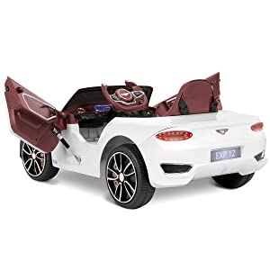 Playkin BENTLEY BLANCO Coche electrico niños bateria