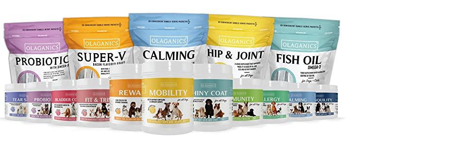 All Olaganics Products Are Uniquely Created To Support Your Pets Health And Wellness.