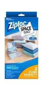 Ziploc Space Bag, Cube Combo, 2 Count