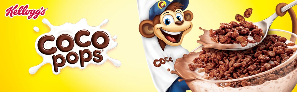kelloggs, coco pops, bowl of coco pops cereal with milk, coco the monkey