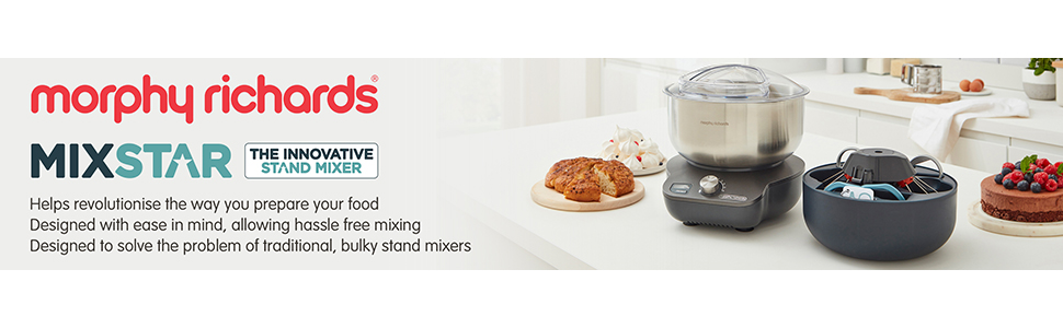 Mixstar the compact food mixer with 4L capacity