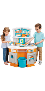 Little Tikes Home Grown Kitchen - Role Play Realistic Kitchen Real Cooking