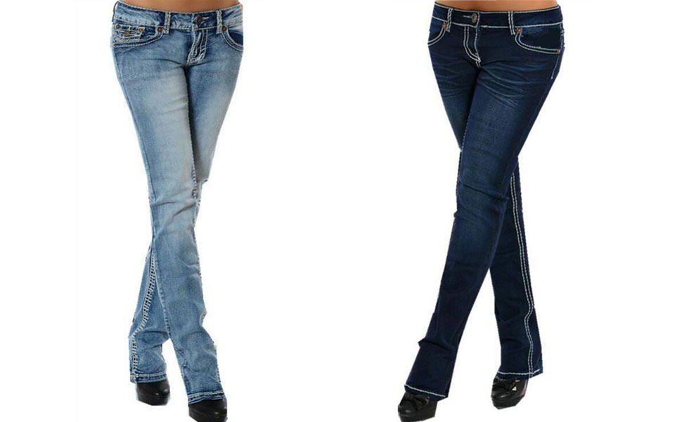 b8593728261659 EVEDESIGN Women's Slim Fit Low Rise Jeans Stretch Straight Embroider ...
